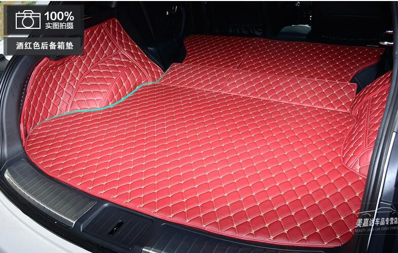 Full Rear Trunk Tray Liner Cargo Mat Floor Protector foot pad mats for infiniti QX70 2014 2015 2016 2017 (6colors) FREE BY EMS
