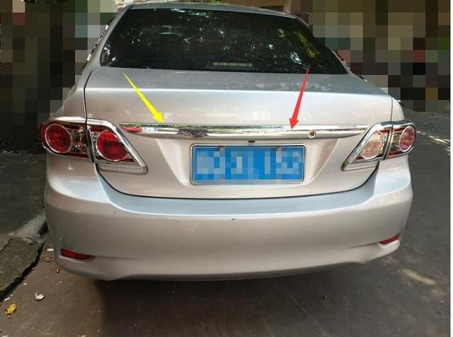 Car styling For Toyota Corolla 2011 2012 2013 Abs Chrome 1pc Per Set Car Rear Trunk Molding Lid Cover Trim