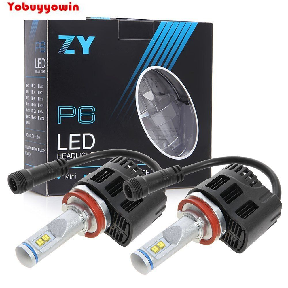 Headlight Bulb Kit DRL headLamp H8 H9 H11 110W 10400LM 6000K MZ LED Chips High Low Beam Canbus Error Free Bulb