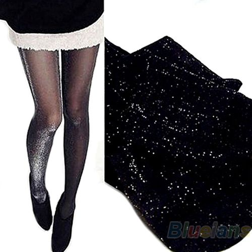 Shiny Pantyhose Glitter Stockings Womens Glossy Tights  0JR7