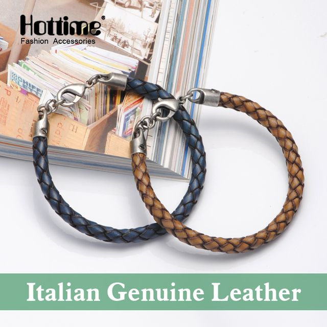 Real Watch Fashion Vintage Handmade Genuine Leather Braided Bracelets For Chain Bangle Graceful Exquisite Attractive PG004