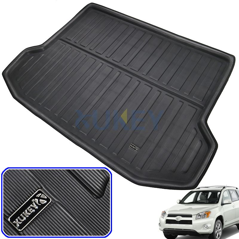 Accessories For Toyota RAV4 RAV-4 2006 - 2012 5Seater Rear Trunk Tray Cargo Boot Liner Mat Floor Carpet 2007 2008 2009 2010 2011