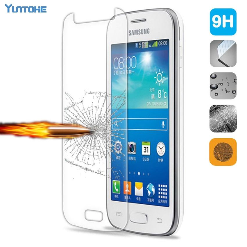 Tempered glass for samsung 7106/8262/8552/9060/9082/9220/i9295/S7262/S7562/S7582/ screen protector glass film 100pcs