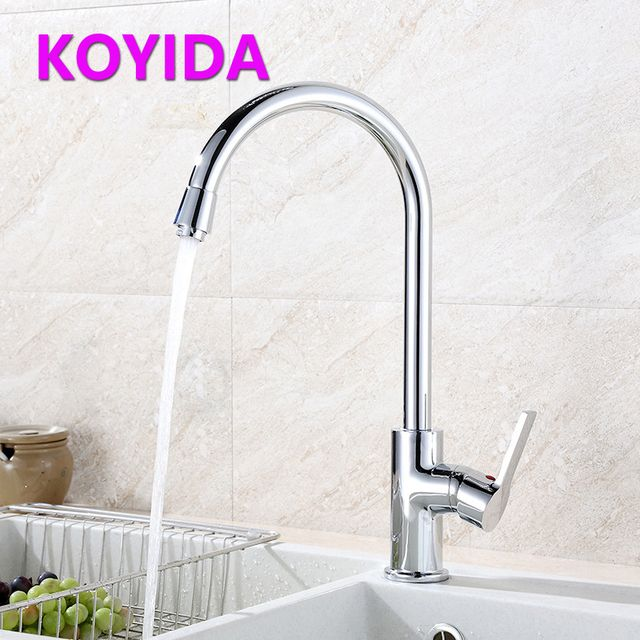 KOYIDA Kitchen Faucet Deck Mounted Grifo Alloy Basin Faucet lavabo Single Hole Sink Mixer Water Tap torneira cozinha Chrome W280