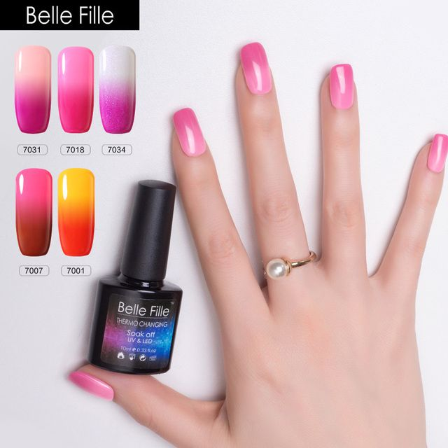 Changing color Temperature Thermo Gel nail polish 10ml Magical UV Varnishes Lacquer Home Manicure artificial fingernail polish