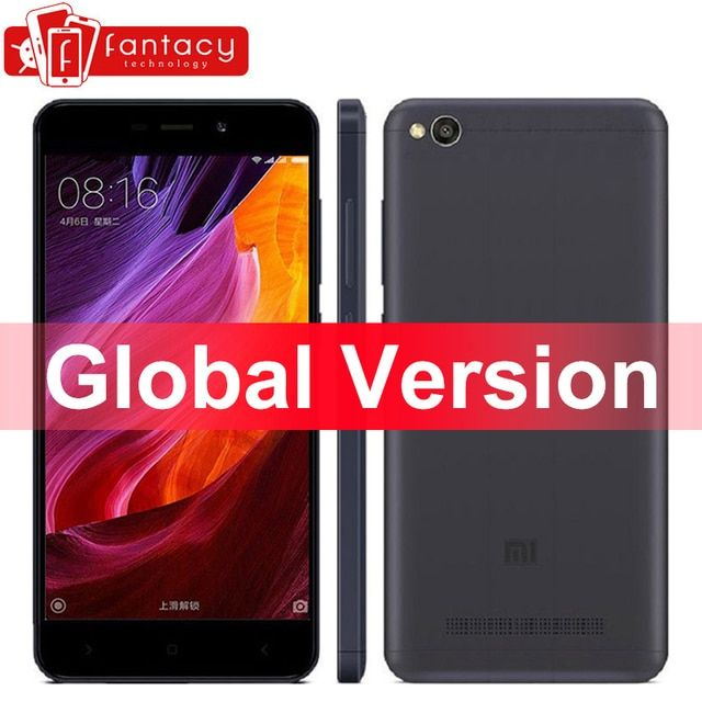 "Global Version Xiaomi Redmi 4A 4 A Smartphone Snapdragon 425 Quad Core 2G RAM 16G ROM FDD LTE 4G 5"" 13MP 1280x720p MIUI 8.5 OTA"