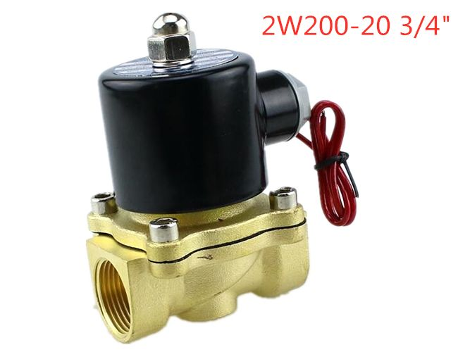 "3/4"" 220V Electric Solenoid Valve Pneumatic 2 Port Water Oil Air Gas 2W-200-20"