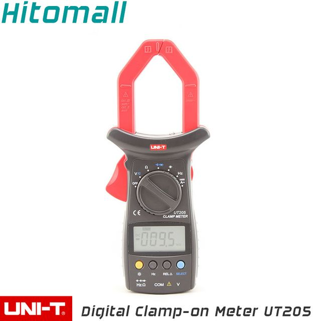Professional UNI-T Digital Clamp Multimeters  Auto Range Capacitancy 1000A 600V Clamp Meter Unit Ammeter Voltmeter UT205