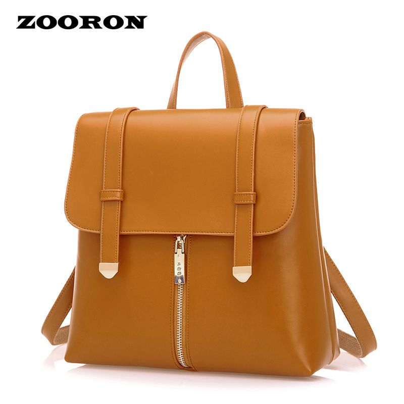 ZOORON 2017 spring summer new women student backpack leather backpack female fashion bags luxury backpacks women bags designer