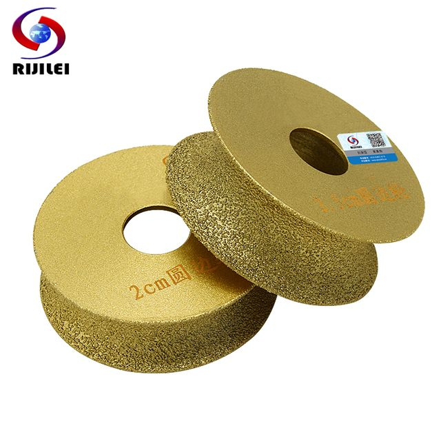RIJILEI 74mm*20*10-40 Brazing Diamonds Marble Sanding Disc Round edge Grinding wheel Angle Grinder stone edging discs MX46