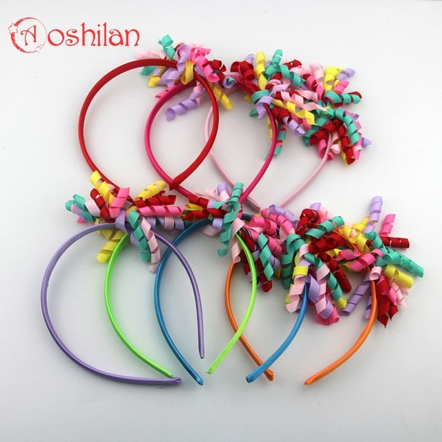 Baby Girls Hair Bands 7 Colour Kids Headbands Hairband With Colored Cloth Children Hair Accessories Hair Hoop 2pcs/lot Aoshilan
