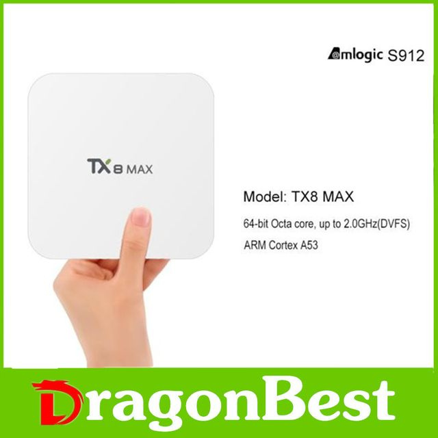 TX8 Max Amlogic S912 Android6.0 3G 16G Bluetooth BT4.1 Android TV BOX Amlogic S912 Octa core ARM Cortex-A53 CPU up to 2GHz