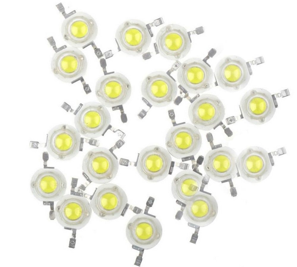 100pcs  High Power 1W 3.2V 300mA / 2W~ 3W 3.4V 600mA Cool White Warm White Neutral White LED Bulb Diodes Light Lamp Bulb Parts