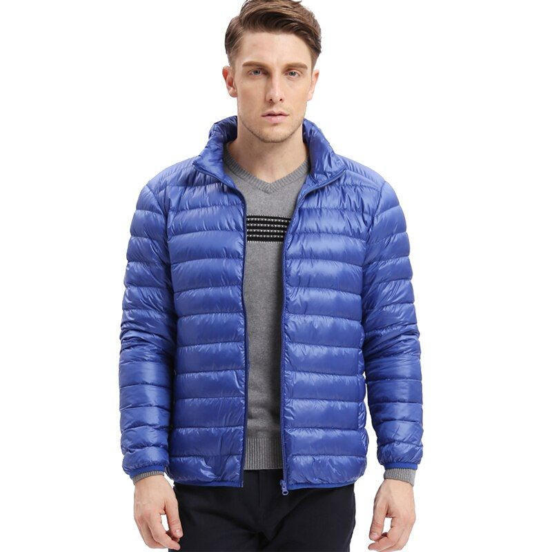 VOMINT men's fashion hot sale down jacket ultra-light down Autumn winter men jacket warm fitt leisure thin down Coat Male M-5XL