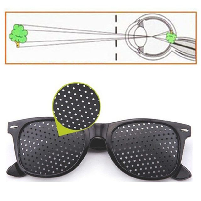 Vision Care Pin hole Sunglasses Men Women Anti-myopia Pinhole Glasses Eye Exercise Improve Eyesight Natural Healing Goggles