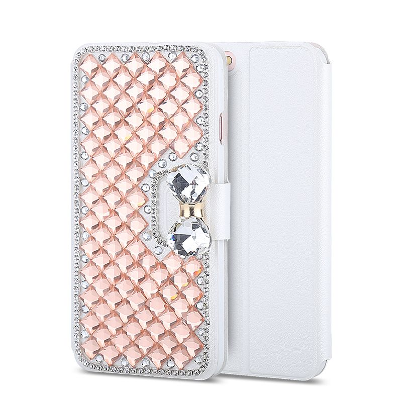 Haissky Flip Leather Case For Samsung Galaxy S7 S7 edge S6 S5 S4 S3 S8 S8 Plus Cover Case Luxury Bling Diamond Rhinestone Fundas