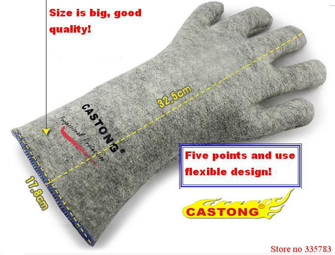 300 degree industrial heating gloves high temperature fire Gloves High quality fireproof gloves Used widely
