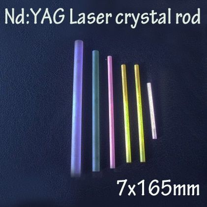 7x165mm Nd: YAG laser crystal rods