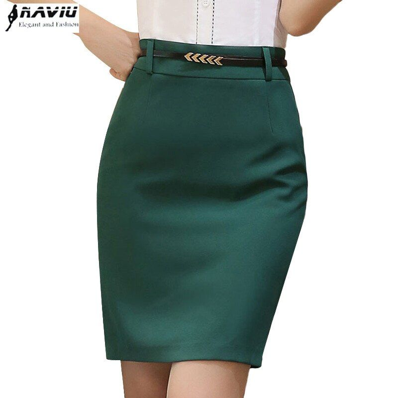 Summer fashion women formal skirt OL smmer plus size slim black Green hip short skirts office ladies work wear step skirt