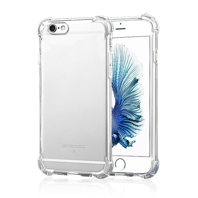 Ascromy Air Cushion Anti Knock Clear Crystal TPU PC Soft Rubber Cover Case for Iphone 6 6S Plus Phone Cases Shockproof Luxury