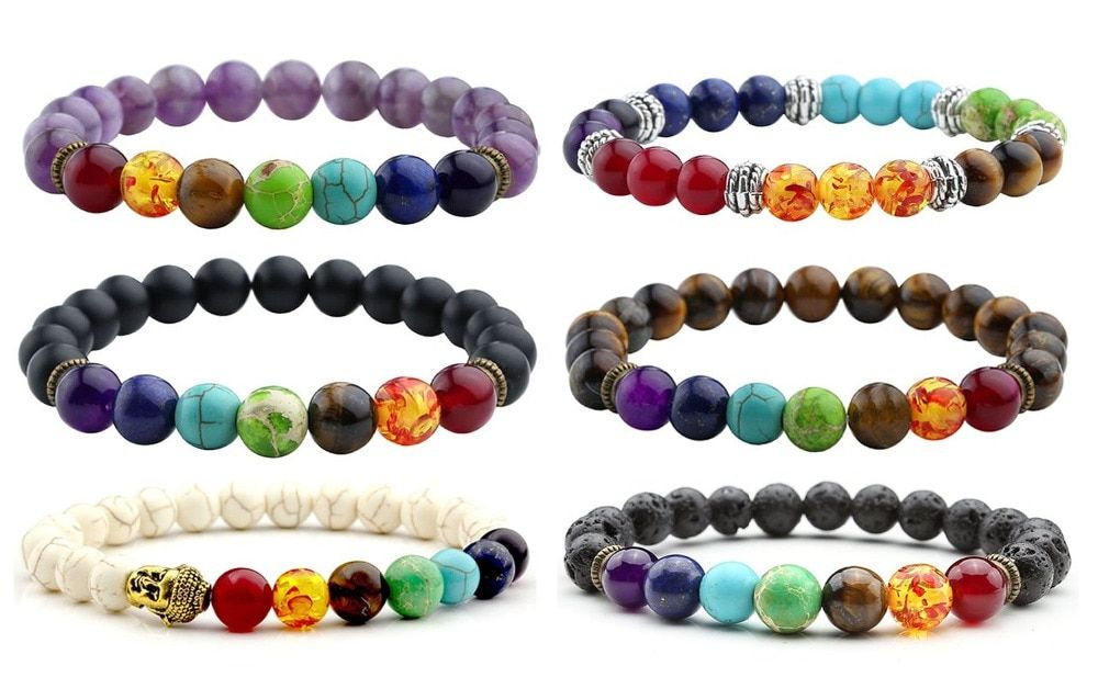Jewelry Lava Rock Natural stone Matte Natural stone   Mens Womens Bracelet, Energy Beads