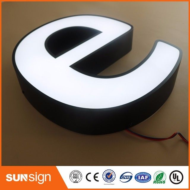 alibaba-express custom building signage stainless steel metal LED letters light