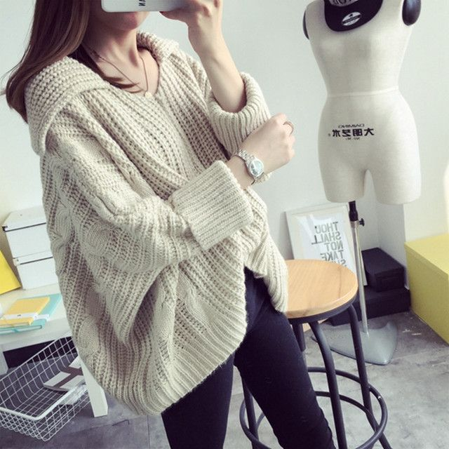 Winter Women Sweaters And Pullovers Thick Tops Bat Sleeve Casual Sweater Pull Femme Knitted Pullover Jumpers Sweter Mujer C2286