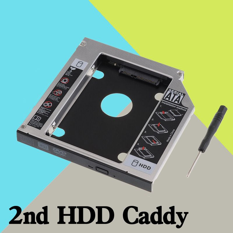 New Sata 2nd Hdd Ssd Hard Drive Caddy for Dell Alienware M14x Replace Uj8a7 Dvd 9.5mm