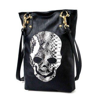 cheap leather handbag Skull ladies bag women leather Shoulder bags sac a main femme de marque luxe cuir 2016 Serpentine handbags
