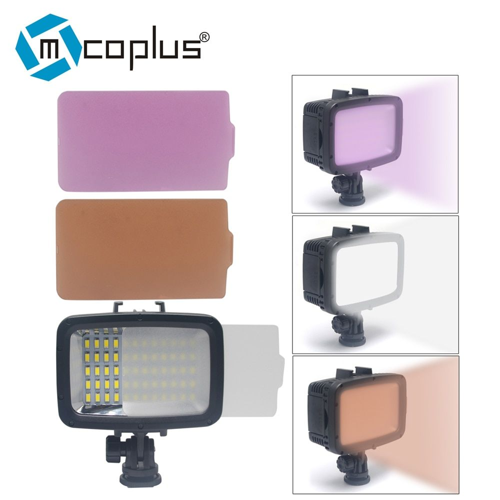 Mcoplus 60pcs 1800LM Underwater Lamp Waterproof Video LED Light for GoPro Hero 4 3 SJCAM SJ4000 Xiaomi Sports Action Camera