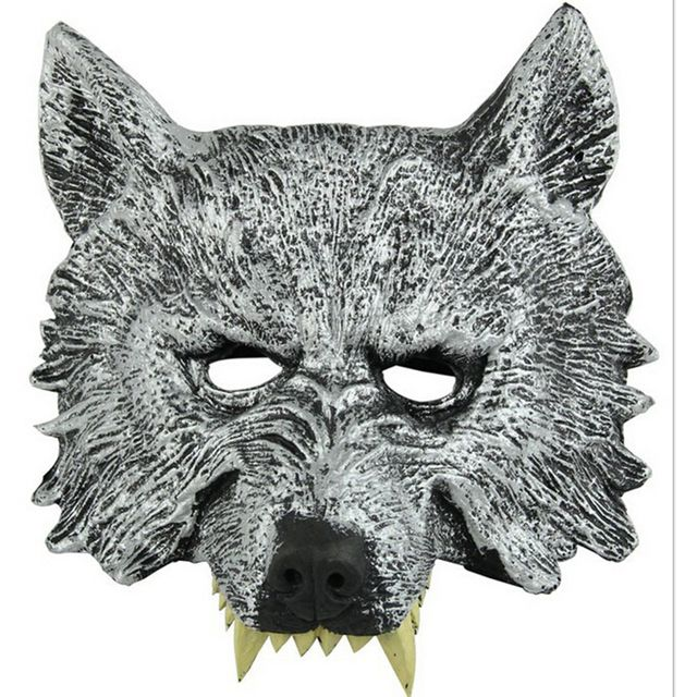 Halloween Decorations Horror Mask Latex Wolf Head Tease Party Props Costume Masquerade Mask Rubber Face Cosplay Festive Supplies