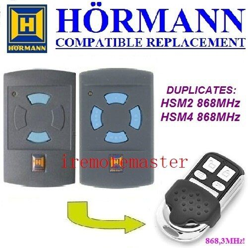 Hormann HSM2 868,HSM4 868mhz replacement remote control