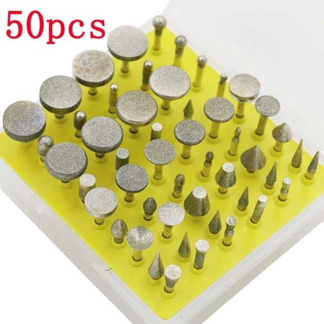 diamond sharpening grinding wheel DIY engraving diamond stone tools abrasive polishing burrs disc mini drill kit bit set Metal