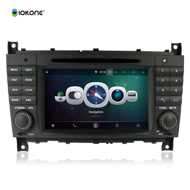 "7"" Android Quad core HD mirror link Car DVD Radio Player Stereo For Benz C class W203 CLK W209 with IOKONE rotating UI CANBUS"