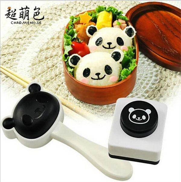 The new super cute panda rice ball mould sushi DIY suit/creative kitchen tools