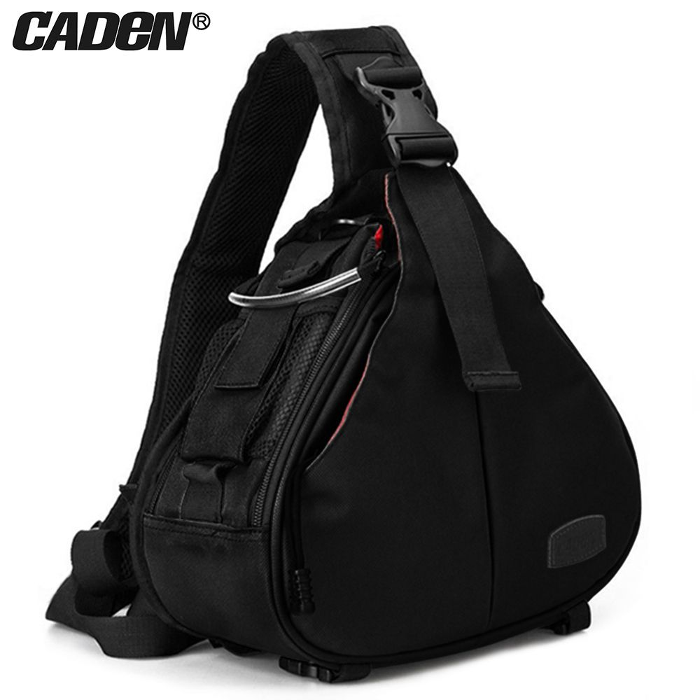 Caden DSLR Camera Sling Bag Digital Photo bag shoulder waterproof backpack padded insert case bag with Rain Cover for Canon Sony