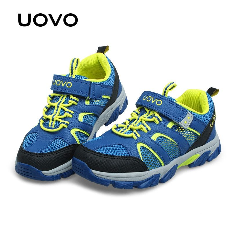 UOVO 2017 New Boys Shoes Sport For Kids Children Shoes Breathable Net Mesh Kids Casual Shoes Light Sneakers Boys Sports Shoes