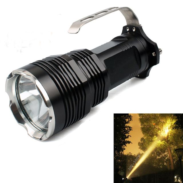 New hunting portable LED flashlight Torch CREE XM-L2 yellow long-range  hunting tactical outdoor searchlight flashlight
