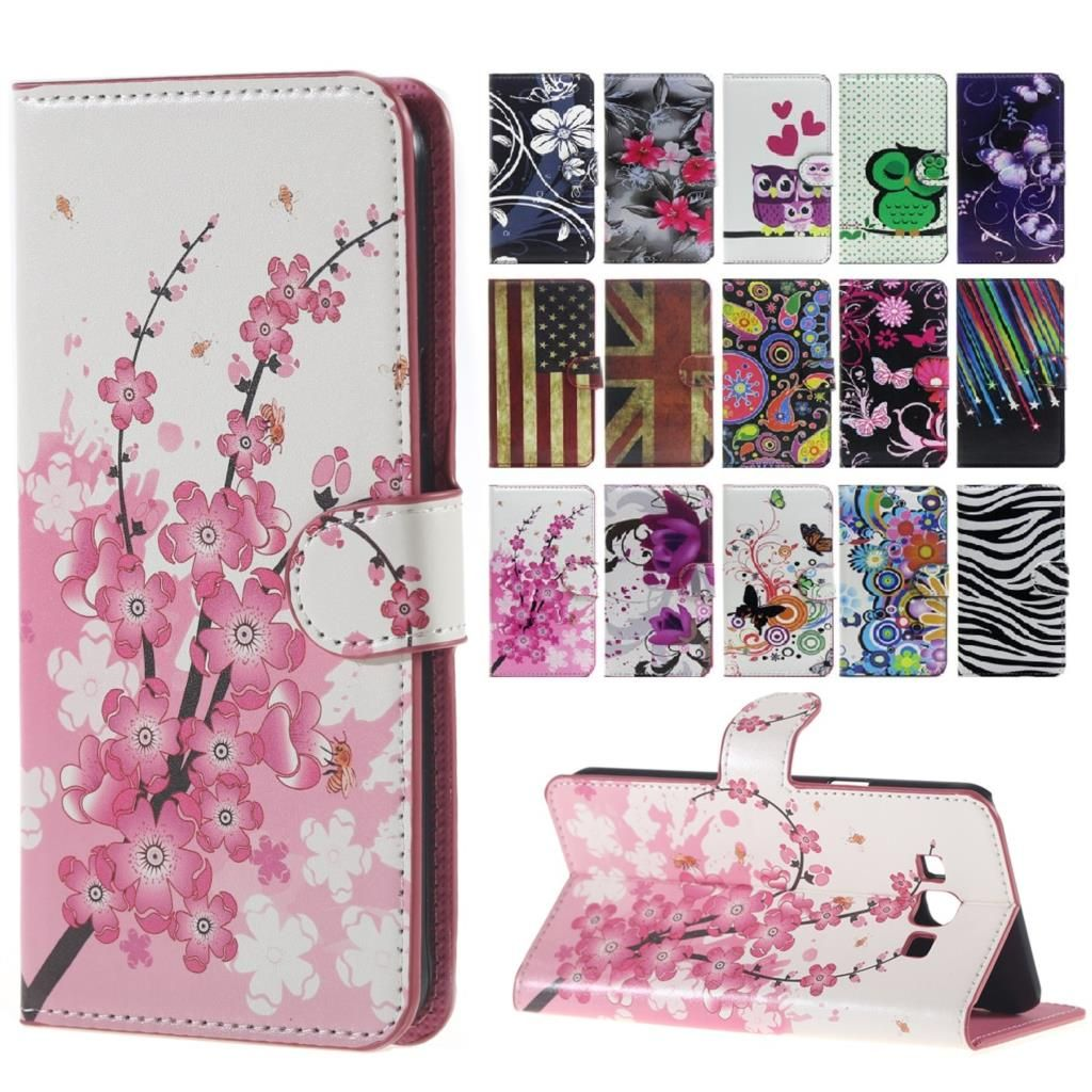 Plum Flower Case for Microsoft Nokia Lumia 540 Case Wallet Stand Flip Leather Cover for Nokia Lumia 540 Phone Cover Case