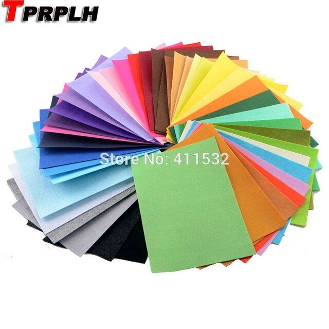 TPRPYN 42 colors/lot 30CMX20CM Felt Fabric Polyester Non-woven Felt 1 MM Thick Handmade fabric DIY Not woven Cloth CL16108