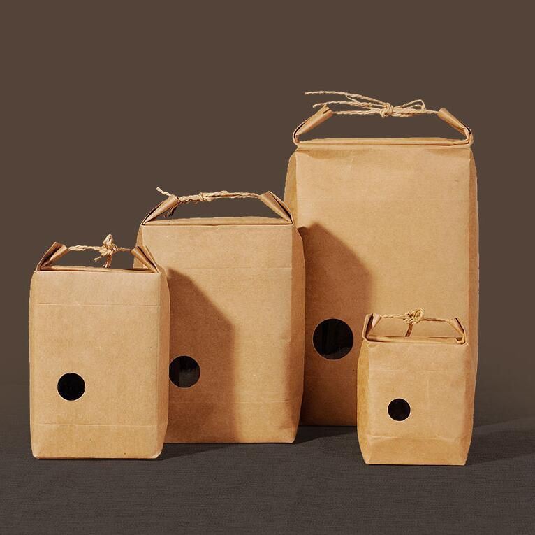 Kraft tea packaging bags with Small round window, 40pcs/lot Wedding Favors and Gifts Bag Party Supplies