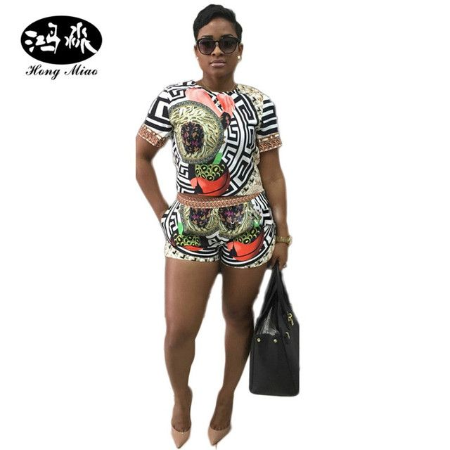 2017 NEW Sexy Summer Women playsuit Traditional African Tribal Print Dashiki Bodysuit Rompers women jumpsuit coverall female