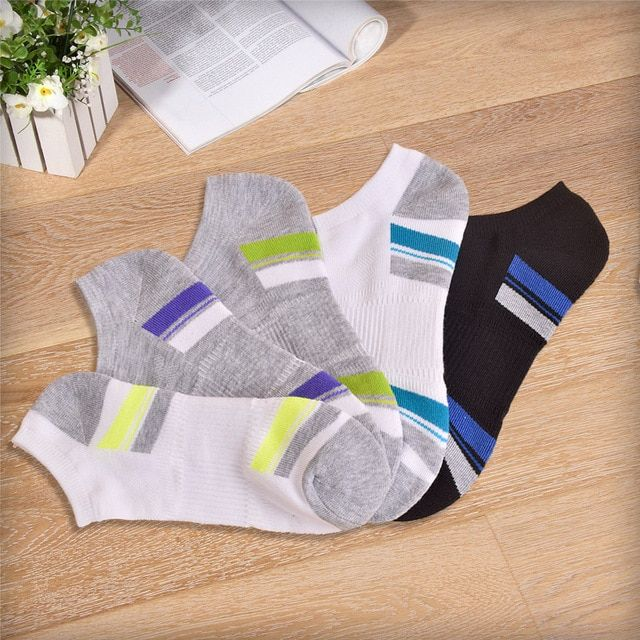 5 Pairs New Style Four Seasons Men's Ankle Boat Socks Unisex Polyester Breathable Absorb Sweat Quick Dry Male Casual Happy Socks
