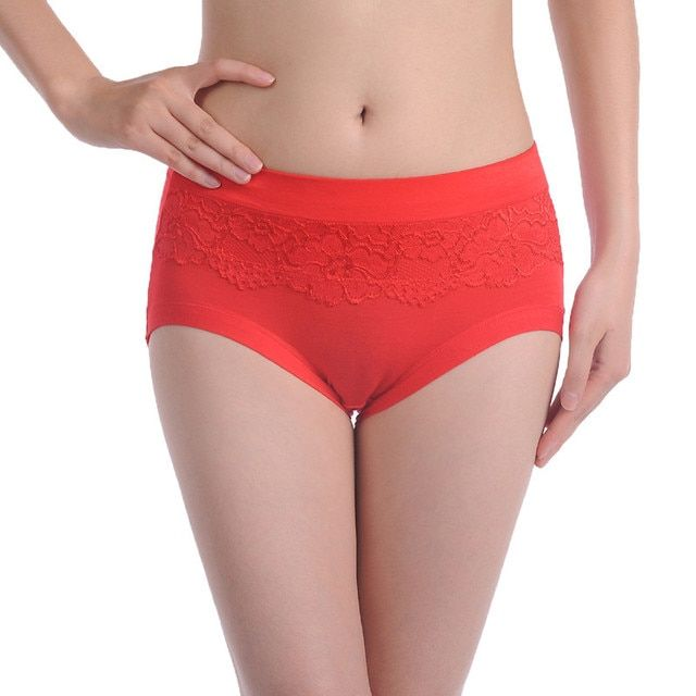 Sexy plus size women panties bamboo Fibre ladies' panties high waist women underwear briefs #006