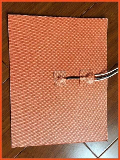350X350mm 800W 230V, w/ NTC 100K Thermistor, Silicone Heater 3D Printer Heater,Heatbed Large Plate Heating Mat electric heater