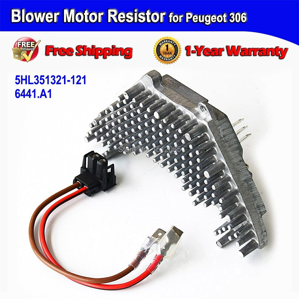 -FAST SHIPPING- Blower Motor Resistor + Wire Harness for Peugeot 306 / Break / Cabriolet / Schragheck OE#6441A1, 5HL351321121