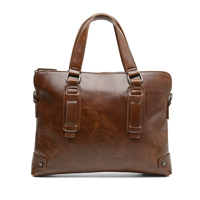 2017 Newest Leather Men Bag Casual Business Leather Briefcase Vintage Men's Shoulder Bag Luxury Handbags Designer