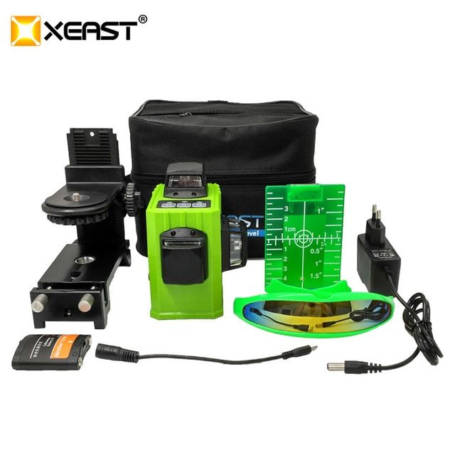 XEAST XE-61A 12 line laser level 360 Self-leveling Cross Line 3D Laser Level Green or red Beam With Tilt&Outdoor Mode