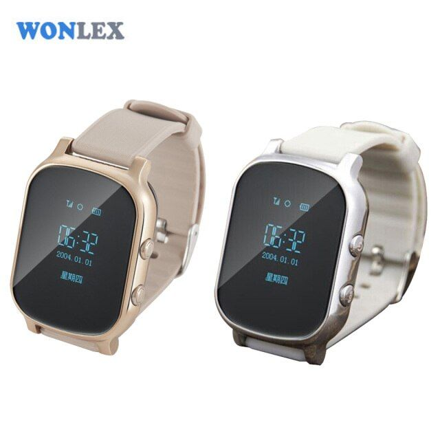 Wonlex Kids Elderly Adult GPS Tracker Smart Watch SOS Safety Call Tracker Anti-Lost Monitor for iOS Android