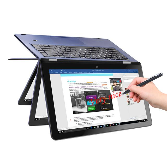 "VOYO VBOOK V3 Pro Apollo Lake N3450 Quad Core 1.1-2.2GHz Win10 13.3"" tablet pcs IPS Screen With 8GB DDR3L 120GB SSD computer"
